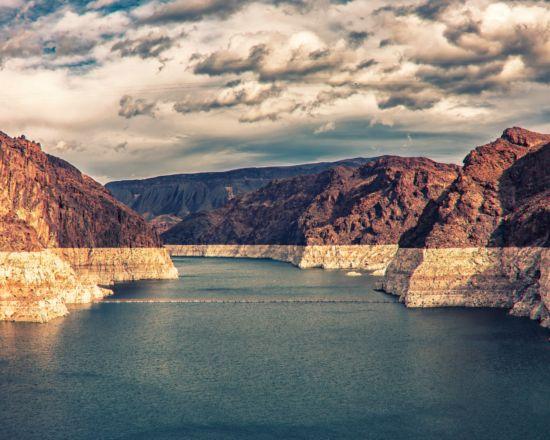 Western reservoir on Colorado River